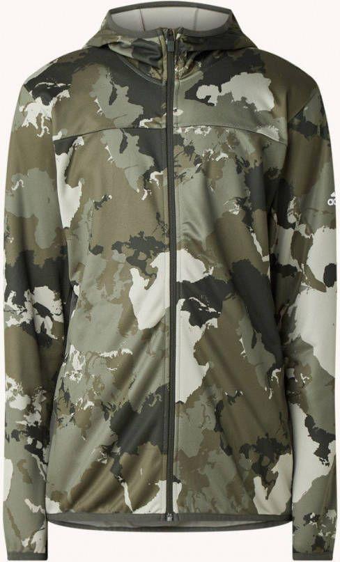 Adidas Sweatvest met Aeroready en camouflage print online kopen