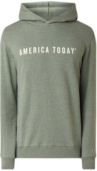 America Today Story hoodie met flock logoprint