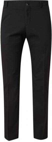 Selected Homme Slim-fit pantalon met stretch in zwart online kopen