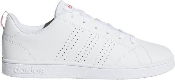 Adidas Vs advantage clean sneakers wit/roze kinderen