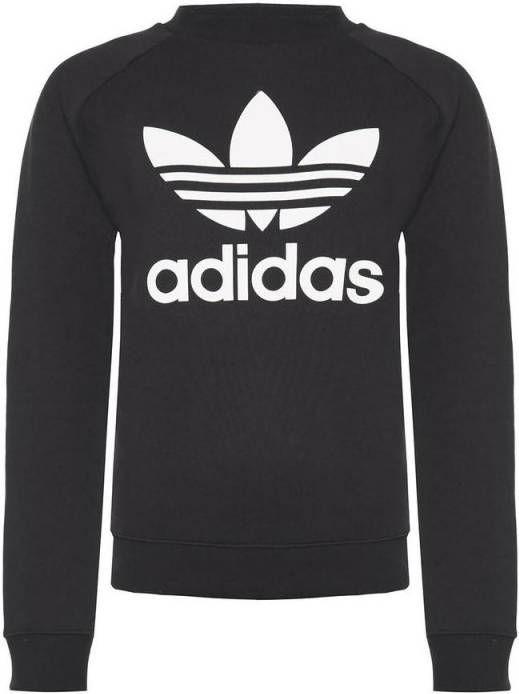 Adidas Originals 3 Stripes Trefoil Crew Sweatshirt Dames Zwart Dames
