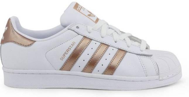 Adidas originals Superstar leren sneakers witmintgroen