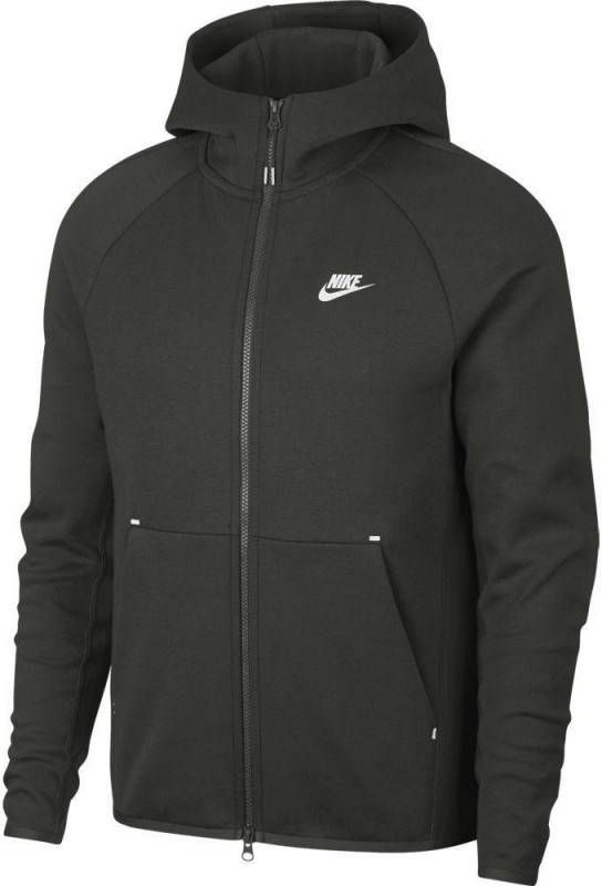Nike Tech Essential Colour Block Full Zip Hoodie Junior Zwart Kind