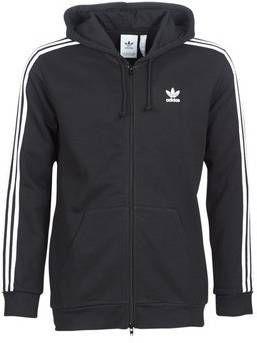 Adidas Originals 3 Stripes Full Zip Hoodie Heren Zwart Heren