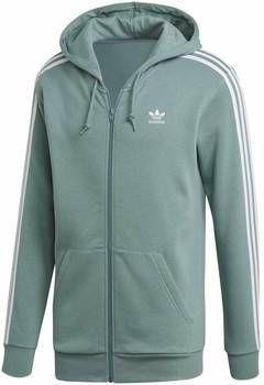 Adidas Originals 3 Stripes Full Zip Hoodie Heren Light BlueWhite Heren