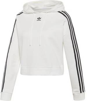 Adidas Originals 3-Stripes Crop Overhead Hoodie Dames Wit ...