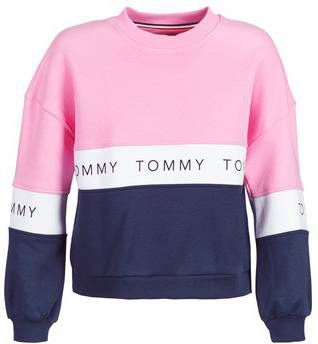Tommy Hilfiger Sweater met colour blocking en logoprint