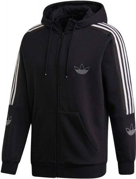 Adidas originals sweatvest zwartwit