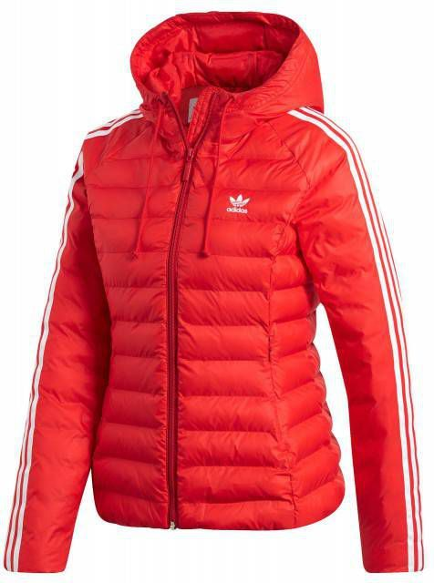 Adidas Originals 3 Stripes Slim Padded Jacket Dames Rood Dames