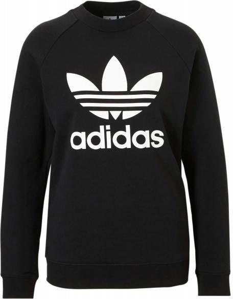 Adidas Originals 3-Stripes Trefoil Crew Sweatshirt Dames Zwart Dames