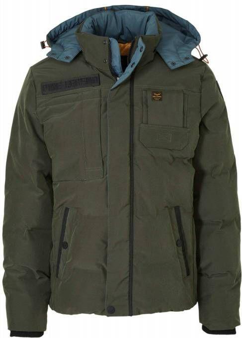 PME Legend Hooded jacket snowburst 2.0 jet black Winter Jassen Zwart