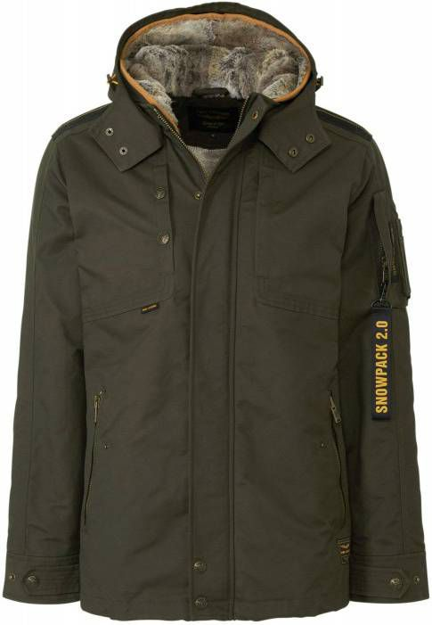 PME Legend Bomber jacket cargo glider 2.0 olive night Winter Jassen Groen
